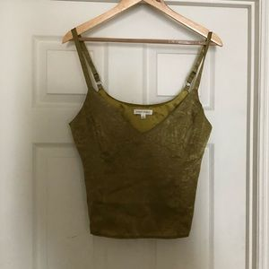 Honey punch green tank